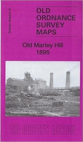 Old Ordnance Survey Detailed Maps Old Marley Hill Durham 1895 Godfrey Edition