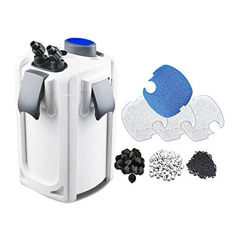 SunSun HW704B 525GPH Pro Canister Filter Kit with 9-watt UV Sterilizer ()