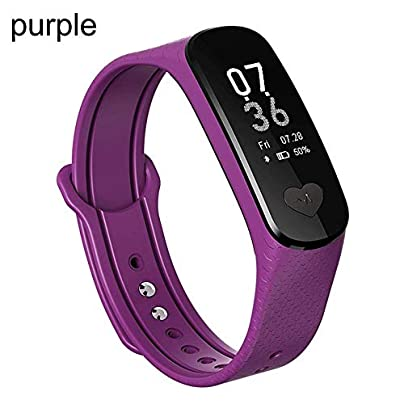 OJBDK Smart Watch Smart Bracelet Smart Wristband Watches Man s Smart Watch Women s Smart Watch Smart Bracelet ECG PPG Continuous Heart Rate Blood Pressure Monitor Information Purple Estimated Price £49.99 -