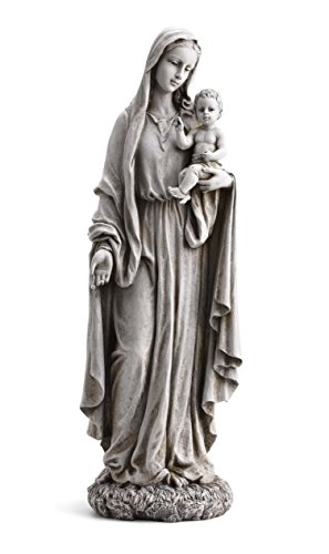 """23"""" Our Lady of Grace and Baby Jesus Garden Statue"""