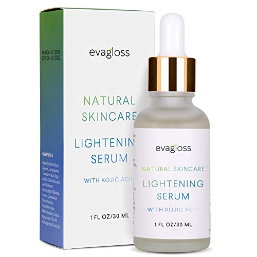 Evagloss Skin Lightening Serum with Kojic Acid - Skin Whitening & Brightening...