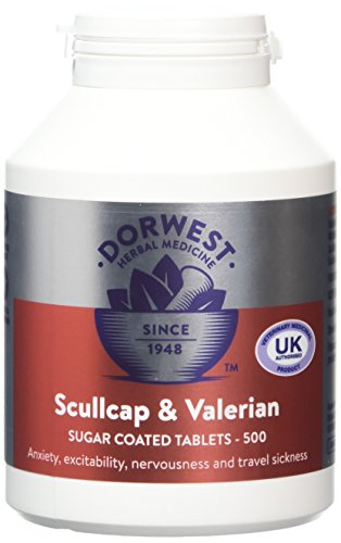 500 Dogs Tablets - Dorwest Herbs Scullcap And Valerian Tablets For Dogs And Cats 500 Tablets