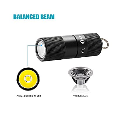 OLIGHT I1R EOS 130 Lumen Rechargeable LED Keychain Light Mini Compact Handheld Flashlight Power by Built-in Rechargeable Battery with USB cable