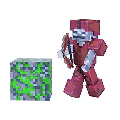 Minecraft Skeleton in Leather Armor Pack 1 Figure by Jazwares Domestic