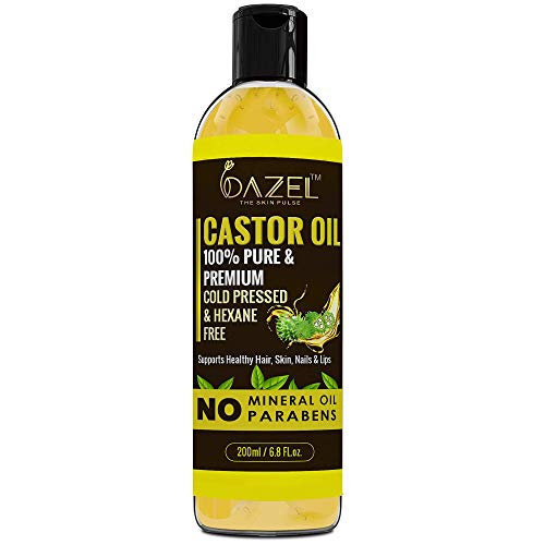 Dazel – The skin pulse ® Pure and Natural Cold Pressed Castor Oil for Hair Growth, Moisturising, Healing, Dry Skin, Nail…