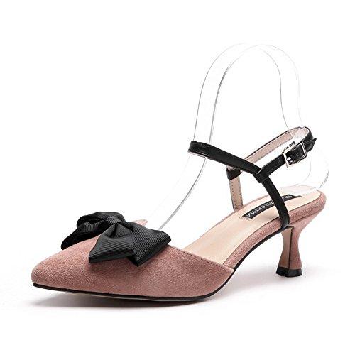 Pink Sandali con 35 Zeppa Donna AdeeSu Rosa aOqnSfSw