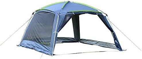 Outsunny Carpa Tipo Avancé Plegable para Camping Azul Oscuro Tela ...
