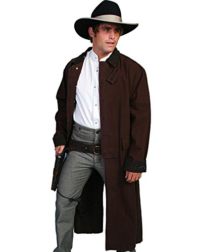 Western Walnut (Rangewear By Scully Men's Long Canvas Duster Walnut Large)