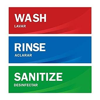 Amazon.com: Enjuagar las etiquetas del fregadero Sanitize ...