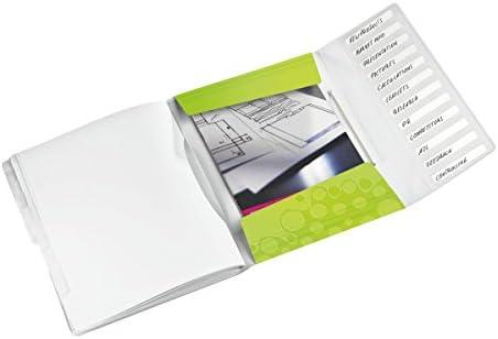 PP Leitz Ordnungsmappe WOW gr/ün metallic, 12 F/ächer | Doppelpack 12 F/ächer