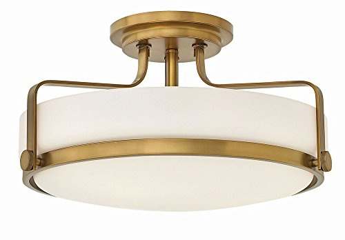 Hinkley 3643HB Transitional Three Light Semi Flush Mount from Harper collection in ()