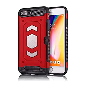 RaG&SaK Water Proof Magnetic Mount armour Case for Iphone 7 & 8 Plus- Red