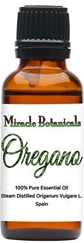 Miracle Botanicals Oregano Essential Oil - 100% Pure Origanum Vulgare L. - Therapeutic Grade - 30ml (Best Oil Of Oregano For Herpes)