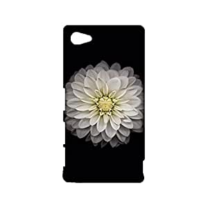 Sony Xperia Z5 Compact 3D Phone Case Holy White Flower Pattern Snap On Sony Xperia Z5 Compact Individual Character Aegis Mobile Shell