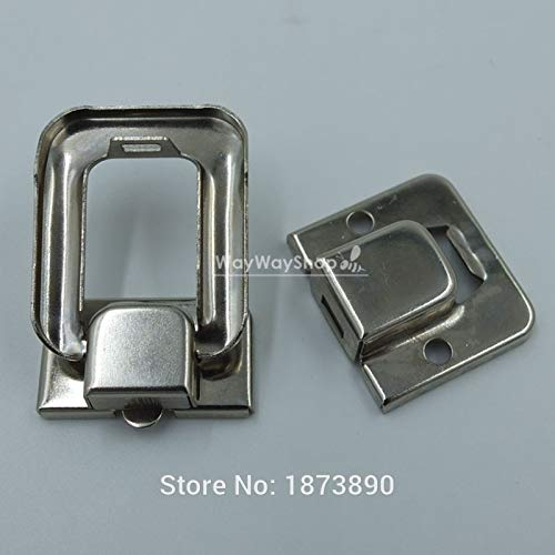 Buckes - 50 Sets Toggle Case Catch Latch Trunk for Drawbolt Closure Box Bag Nickle by Lysee (Image #1)