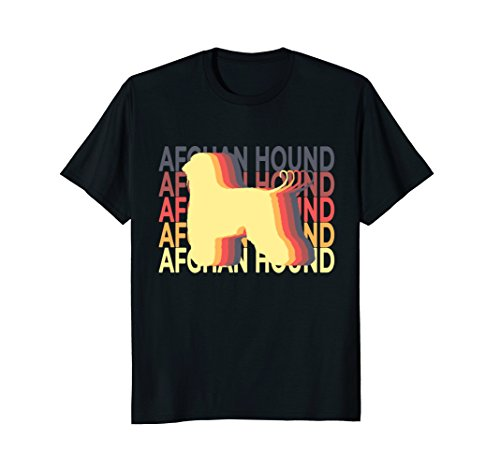 Afghan Hound T Shirt Vintage Repeat (Afghan White Ornaments)