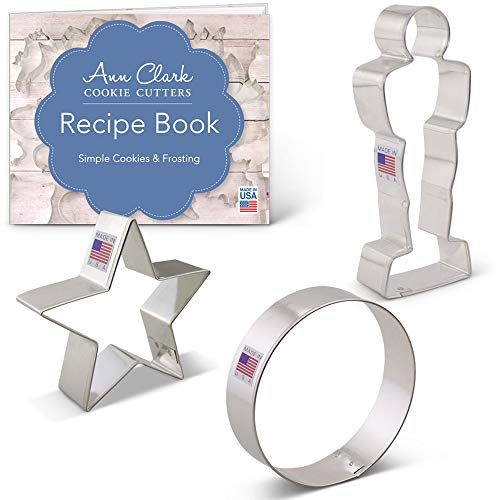 Movie Night Cookie Cutter Set with Recipe Booklet