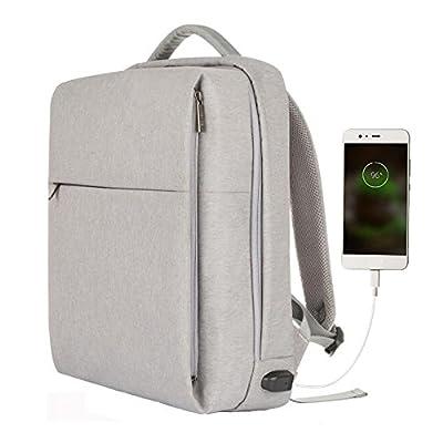 TUBACKPACK Nylon Waterproof Leisure Double Shoulder Laptop Bag Backpack Messenger Briefcase for Men women (Grey) on sale