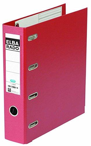 ELBA 10498-RO rado-Plast Doppelordner, 75 mm Rückenbreite, A4, rot