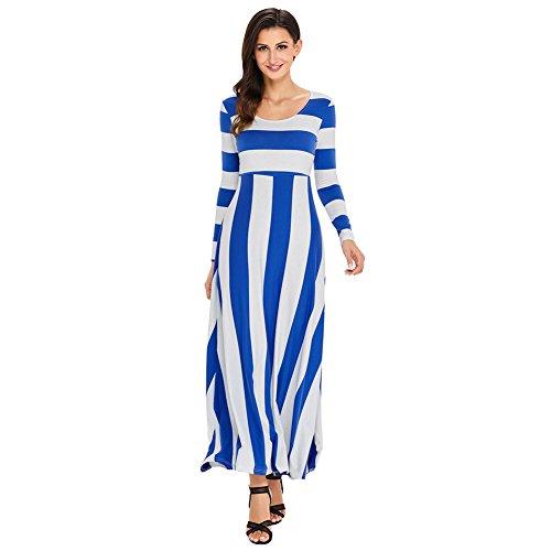 Vintage Prom abito colletto abiti Blue Palla lunghi circolare elegante MEI amp;S Donna tqBBYE