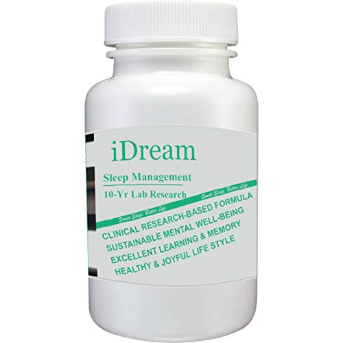 iDream – #1 Herbal Supplements for Sound Sleep – Best Mood Support – Patented Formula with Ginkgo Biloba – Physician Approved – Dietary Supplements