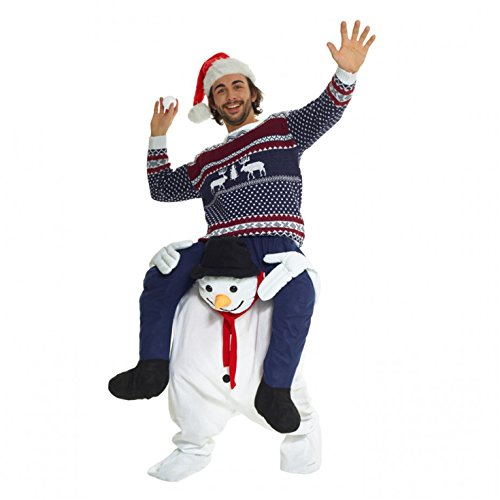 Morph Unisex Piggy Back Snowman Piggyback Costume - With Stuff Your Own Legs]()