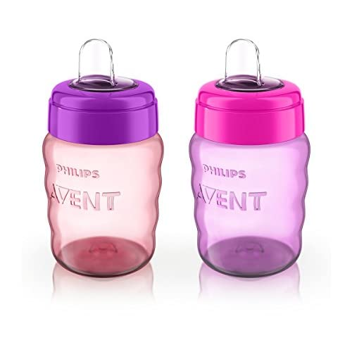 Philips Avent My Easy Sippy Cup Pack of 3 2 Ct Blue//Green SCF553//22 9m+ 9 Oz