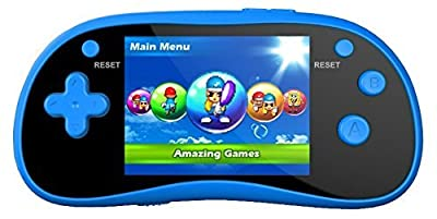 "IQ Toys Handheld Portable Digital Screen 220 Preloaded Games , 3"" Color Display Blue"
