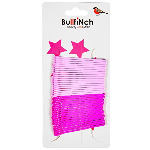Pink Bobby Pins - 40 Count - Hair Pins for Beauty (Dual Pink) Breast Cancer Awareness