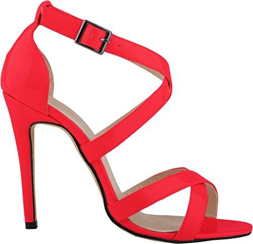 Salabobo - Zapatos con tacón mujer Rojo