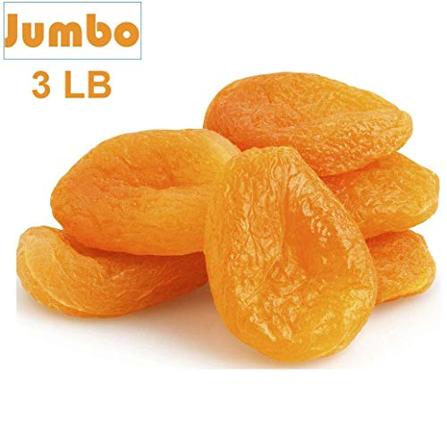 Jumbo Dried Apricots,Turkish Apricots, JUMBO, SIZE #1 ready to eat resealable bag (3 LB) (Best Dried Fruit For Iron)
