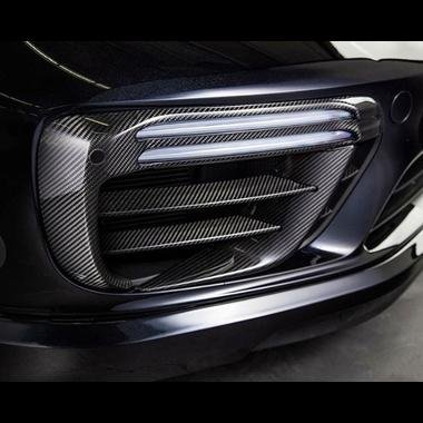 Amazon.com: Porsche 991.2 Turbo & Turbo S Carbon Fiber front bumper retaining frames: Automotive