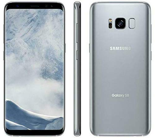 Samsung Galaxy S8 - 64GB - Arctic Silver - Verizon + GSM Factory Unlocked 4G LTE (Renewed)