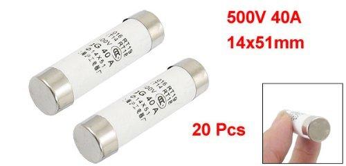 eDealMax 20 pièces 500V 40A cylindre Cap céramique Coup rapide Fuse Liens 14x51mm