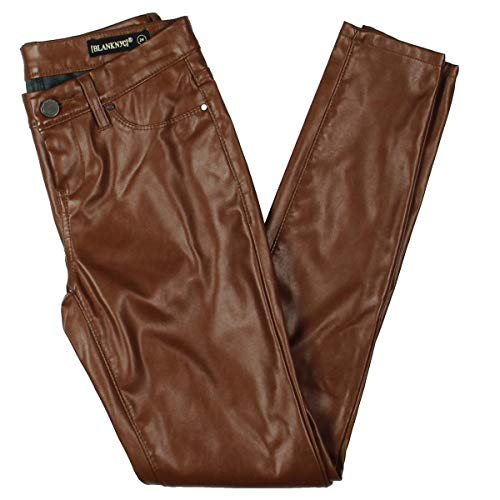 Blank Ladies Leather - [BLANKNYC] Blank NYC Womens Faux Leather Ankle Skinny Pants Brown 29