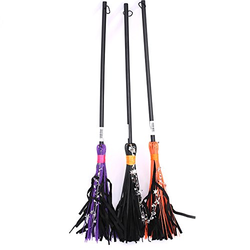 Lecent@ 30 inch Halloween Decoration Costumes Witch Broom Party Broom Halloween Broom(Color - Accessory Broom Costume Witch