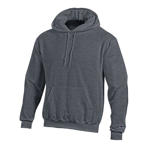 Champion Men's Front Pocket Pullover Hoodie Sweatshirt, XX-Large, Charcoal Heather