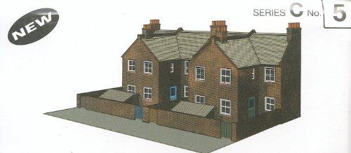 (Superquick C5 Four Red Brick Terraced Backs)