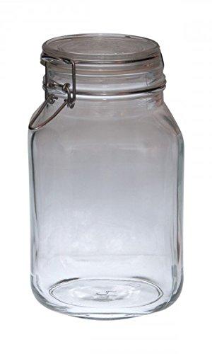55 opinioni per Bormioli Fido 203390, vasetto in vetro con chiusura a leva, originale, 2 l