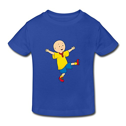 Kids Toddler Caillou Little Boys Girls T-Shirts RoyalBlue Size 4 Toddler