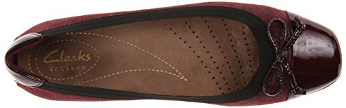 Clarks Womens Candra Glow Balletto Piatto Bordeaux