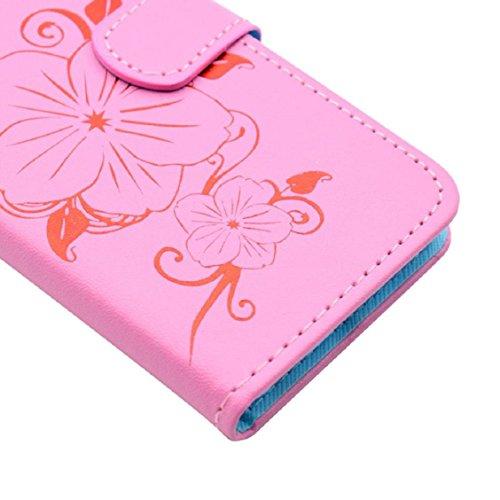 For Samsung Galaxy S7 Edge, Ouneed ® Cubierta de la caja del teléfono de la moda caja de la carpeta del cuero del teléfono para la galaxia S7 Edge (Oro) Rosado