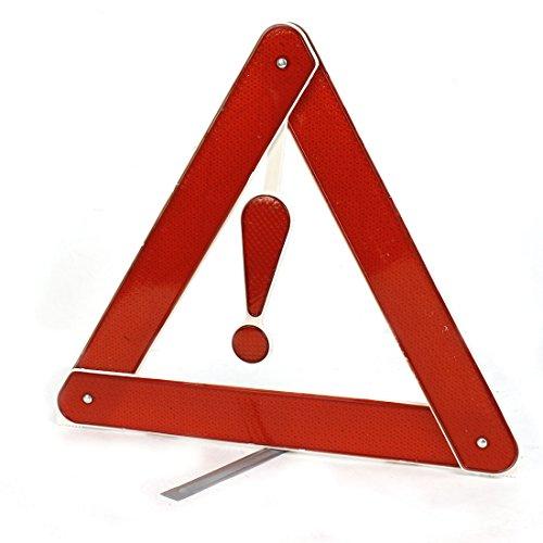 uxcell Car Bracket Folding Emergency Roadside Highway Safety Warning Triangle Reflector Red