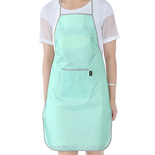 - TMJJ Ladies Kitchen PVC Waterproof Oilproof Apron