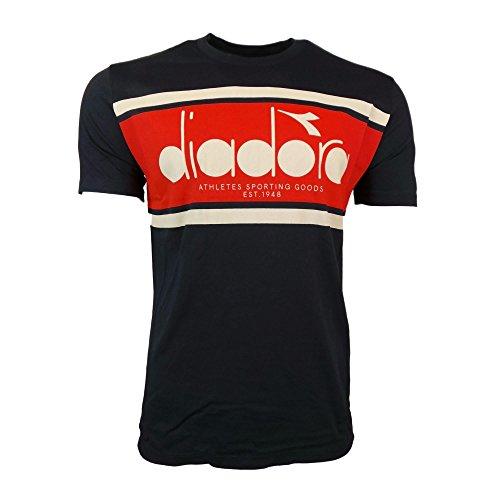 - Diadora T Shirt SS BL M Nv/Wh/Rd