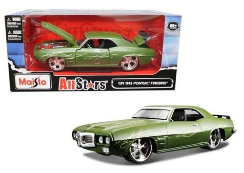 Maisto New 1:24 W/B Classic Muscle - Green 1969 Pontiac Firebird Diecast Model Car