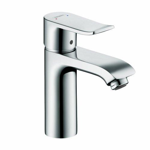 Hansgrohe 31204001 Metris 110 Single Hole Low Flow Faucet without Pop-Up, Chrome - Metris Single Handle