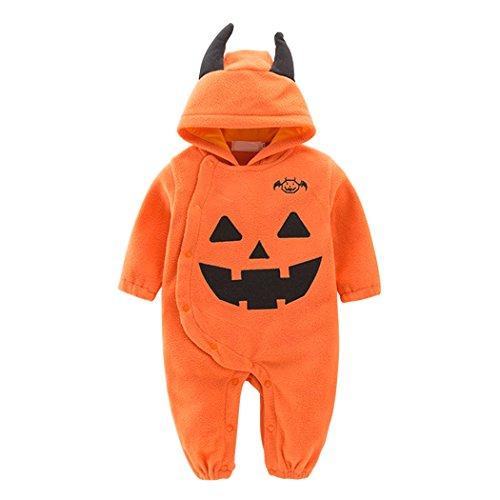 YISUMEI Unisex Baby Costume Set Romper Bodysuit Jumpsuit Halloween Pumpkin 9 (Hippie Halloween Costumes For Tweens)