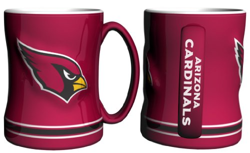 NFL Sculpted Coffee Mug, 15 Ounces, Arizona Cardinals (Nfl Mug Coffee Cup)