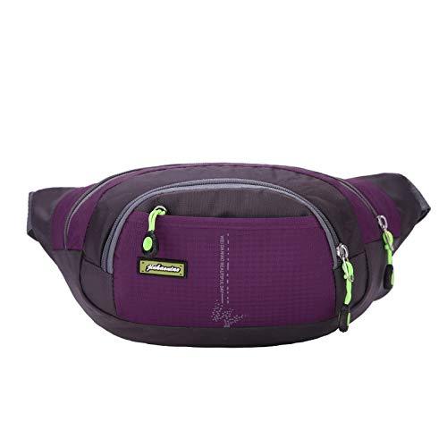 - Moonnight Store HU WAI JIAN FENG Running Sports Travel Running Bag Man Woman Waist Bag Hiking Sport Men Pack Waist Belt Zip Pouch Gifts (Purple Color)